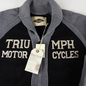 Lucky Triumph Motorcycles Shawl Collar Cardigan